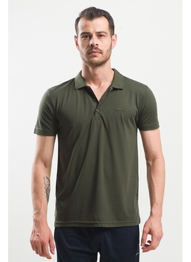 Slazenger Slazenger SPIRIT Erkek T-Shirt Haki Haki